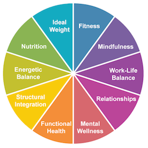 Holistic-Wellness-Wheel at Bradley Chiropractic Nutrition Center